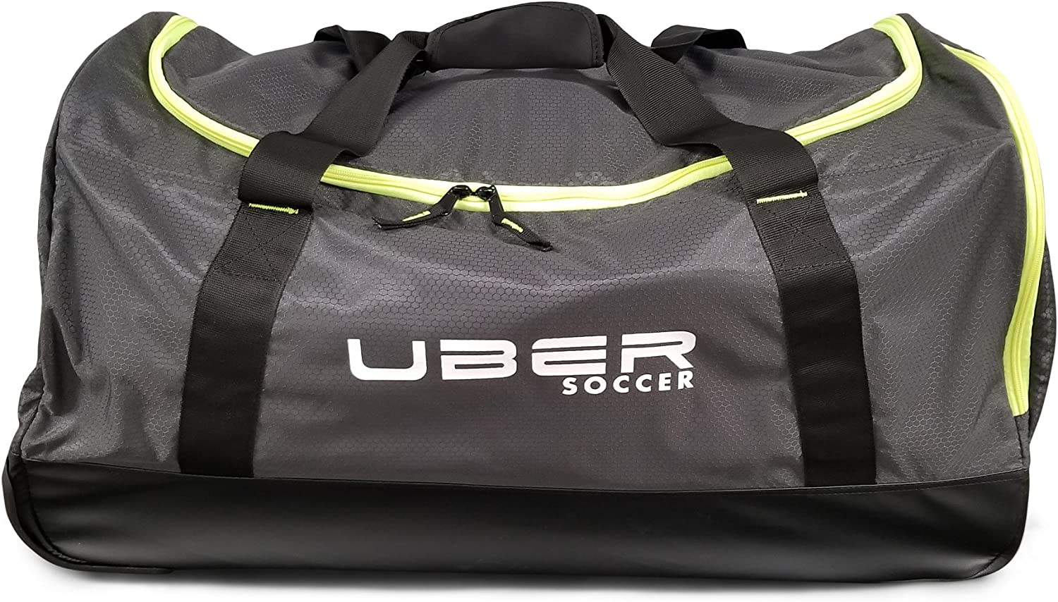 Medium Black and Green Uber Soccer Players Bag with Trolly