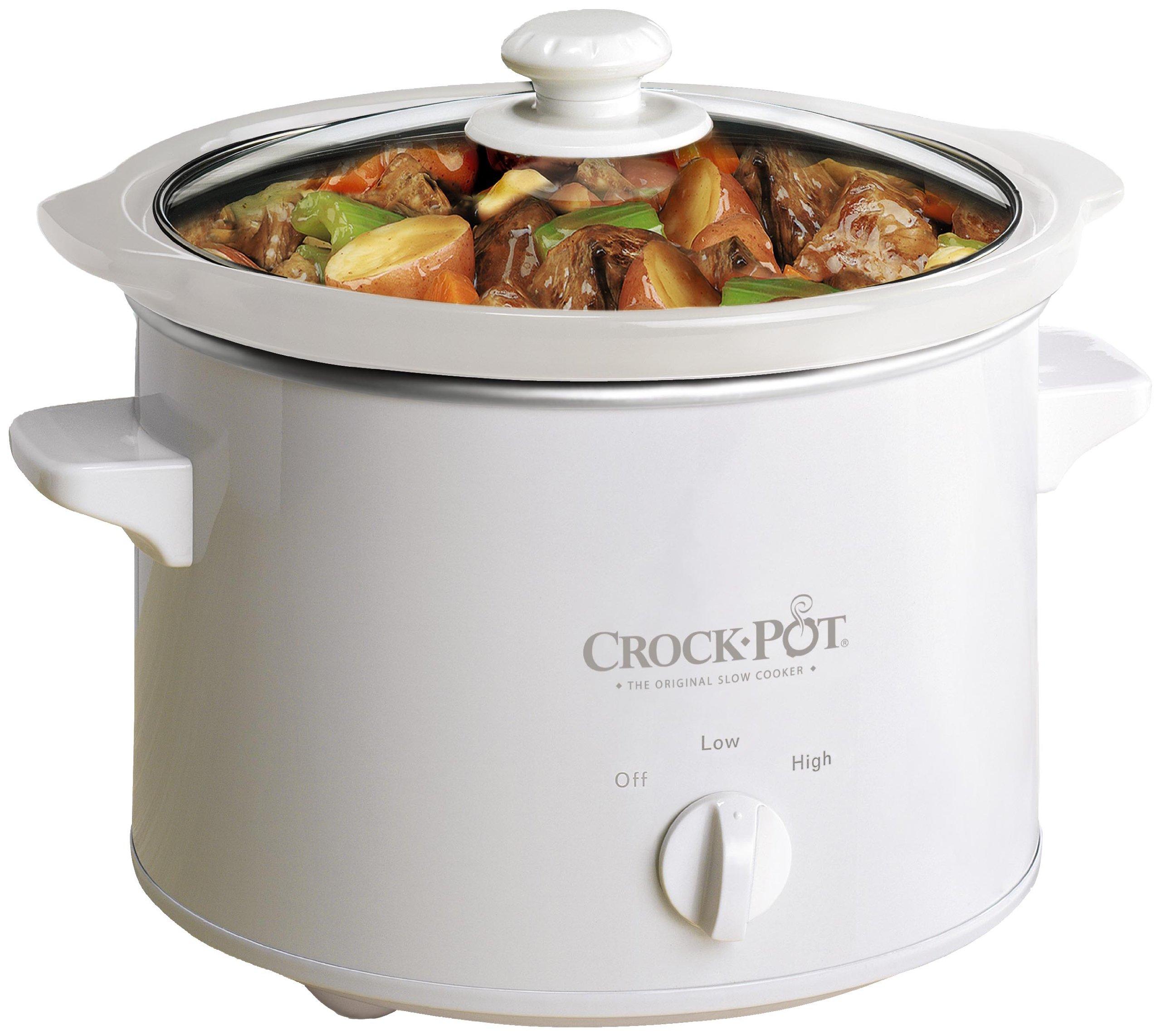 Crock-Pot 220 Volts (Not for USA) Slow Cooker, 2.4 Litre, White