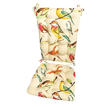 Amazon.com: Mecedora cojines – Song Bird Multi – Cojín para ...