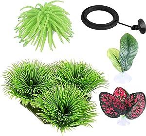 Betta Pets Fish Tank Accessories Toys:Shrimp,Frog, Goldfish, Turtle Tanks Aquarium Decor Cpad.Rocks Neon The Natural Organi, Comfortable Rest Seaweed Aquatic Plants Decorations Zorara.