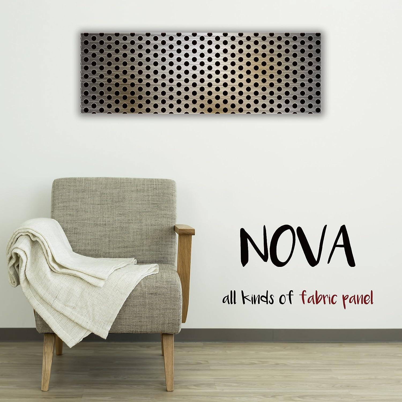 ファブリックパネル Nova L Mサイズ 30cm 90cm アルミ 金属 柄