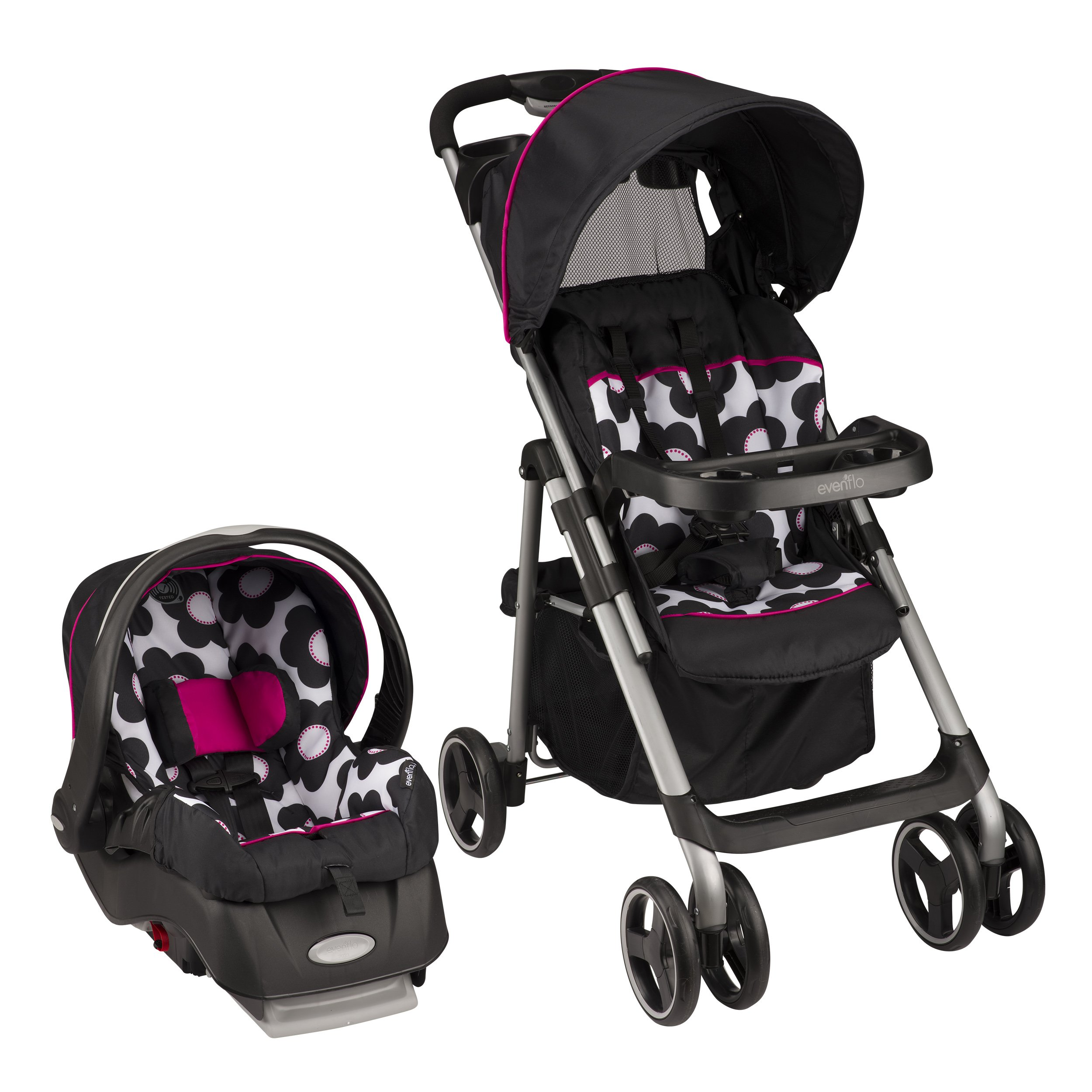 Baby Infant Combo Stroller Car Seat Evenflo Vive Sport Travel System Marianna