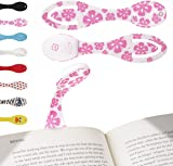 Gifts for Book Lovers Book Light for Reading in Bed - Clip on LED Reading Light & Bookmark - Batteries Included - Great Birthday & Christmas Pink