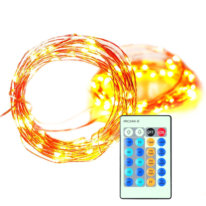Badalink LED Lichterkette 10M LED Kupferdraht Lichterketten mit ...