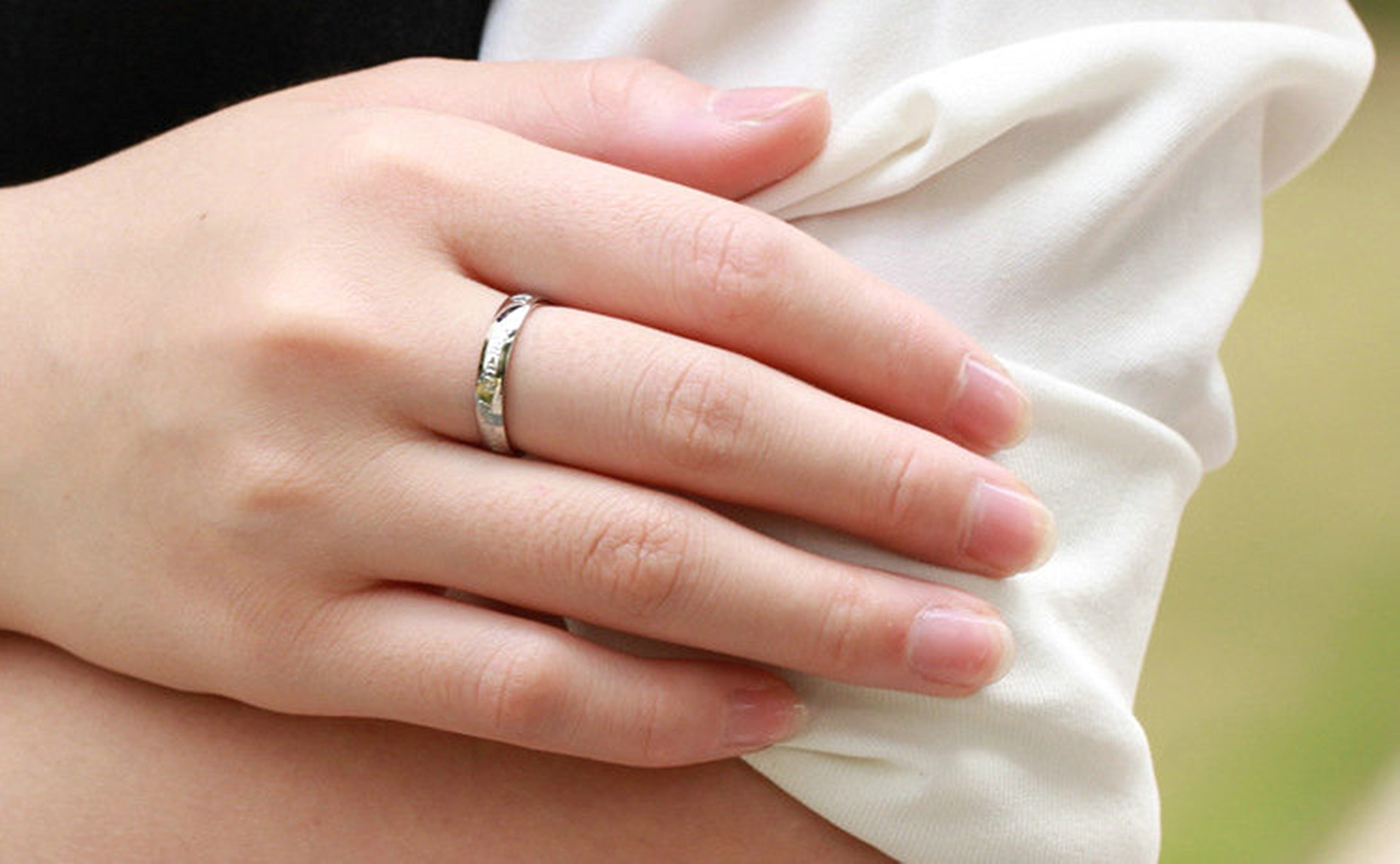 Beydodo 1PCS Stainless Steel Ring 7 Engraving You Are Perfect In My Heart Width Wedding Rings Mens by Beydodo (Image #3)