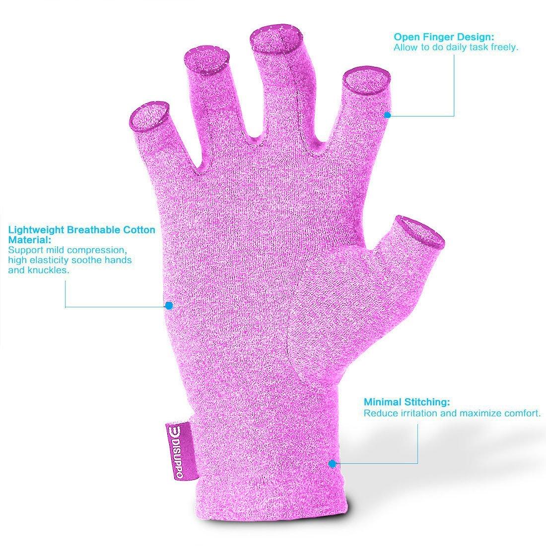 Gaming Tippen DISUPPO Arthritis Handschuhe Fingerlose Handschuhe f/ür M/änner und Frauen Rheumatische Arthritis Kompressionshandschuhe f/ür Schmerzlinderung Paar
