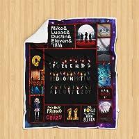 Geembi Friends Don't Lie Stranger Things Sofa Blanket P181B PD Sherpa Fleece Throw Blankets Bedding Blanket Reversible -Decorative Blanketed - Artwork Sherpa Blanket - Best Gift 2019