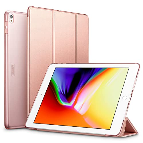 ESR iPad Pro 10.5 Case, Ultra-slim Lightweight Smart Case with Trifold Stand and Auto Sleep/Wake Function, Microfiber Lining, Translucent Frosted Back Cover for Apple iPad Pro 10.5 inch 2017 Released, Rose Gold