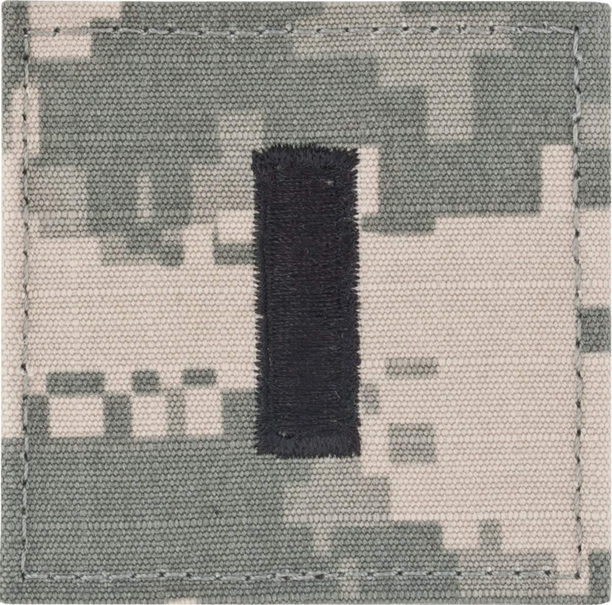 Army Combat Uniform ACU Officer Rank (With Hook Fastener, O-2 First Lieutenant)