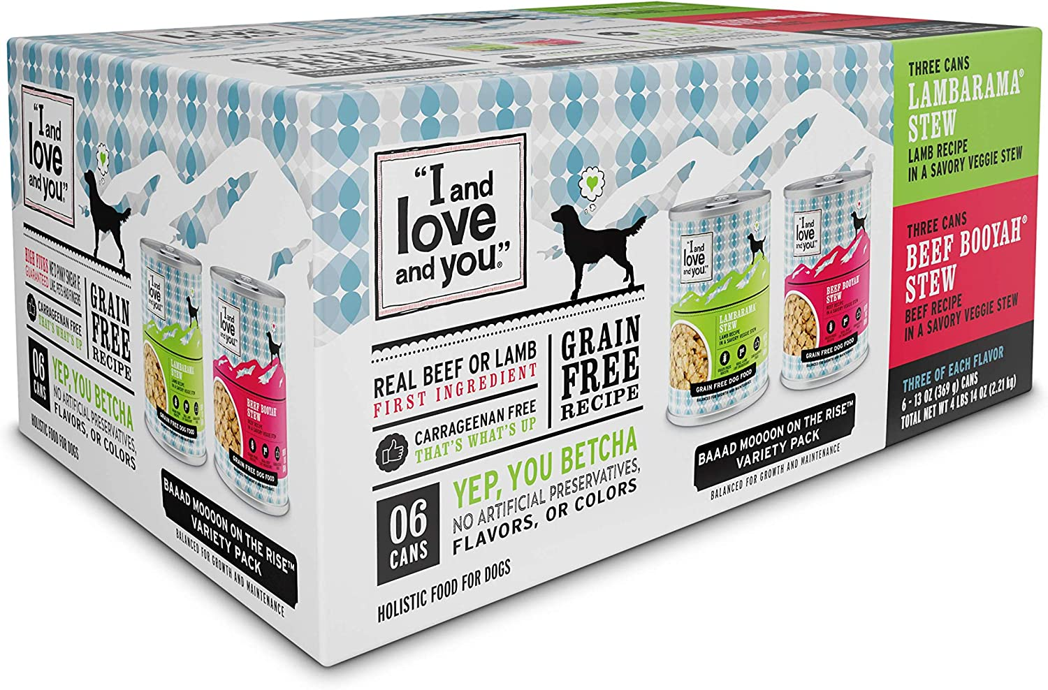 "I and love and you"" Naked Essentials Wet Dog Food - Grain Free and Canned (Variety of Flavors)"