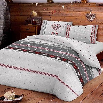 7ee228614b Parure copripiumino Sweden di Daunex per letto Matrimoniale due piazze R744  GRIGIO: Amazon.it: Casa e cucina