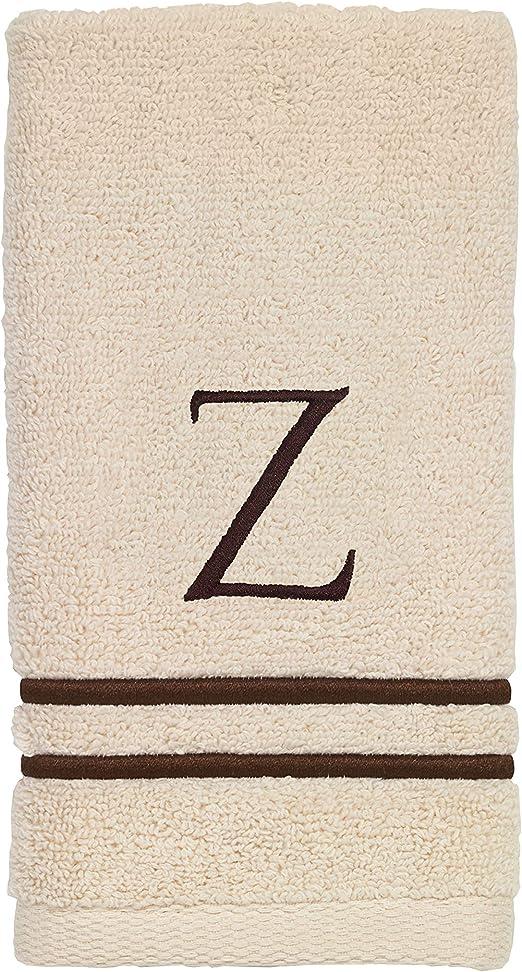Monogrammed Fingertip Towel for Bathroom Guest Towel