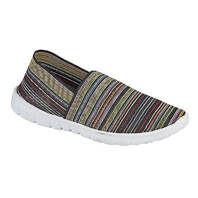 Dek Damen Stretch Fit Slip-on Sommer Schuhe (40 EU) (Schwarz) 2HBrZHWh3