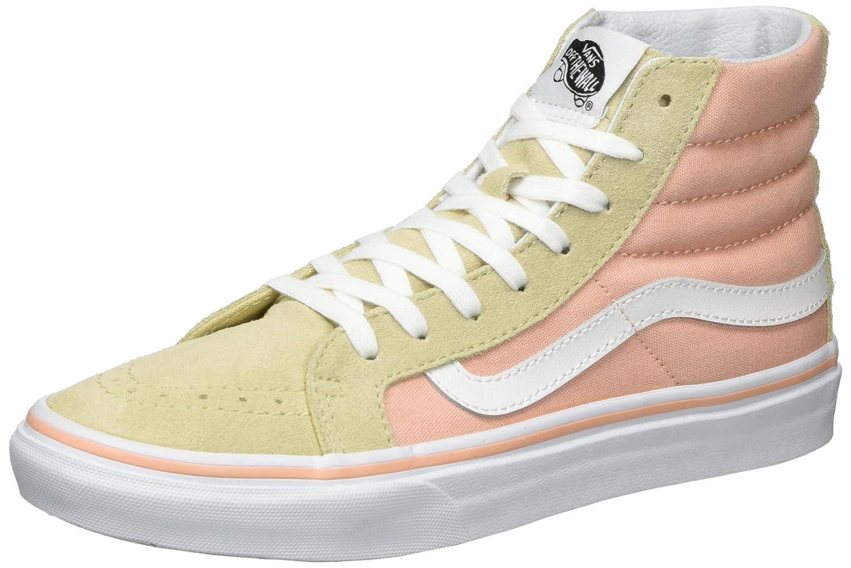 Vans Sk8 Hi Slim Fashion Sneakers Pale Khaki True White Sayings Size 7 Men 85 Women