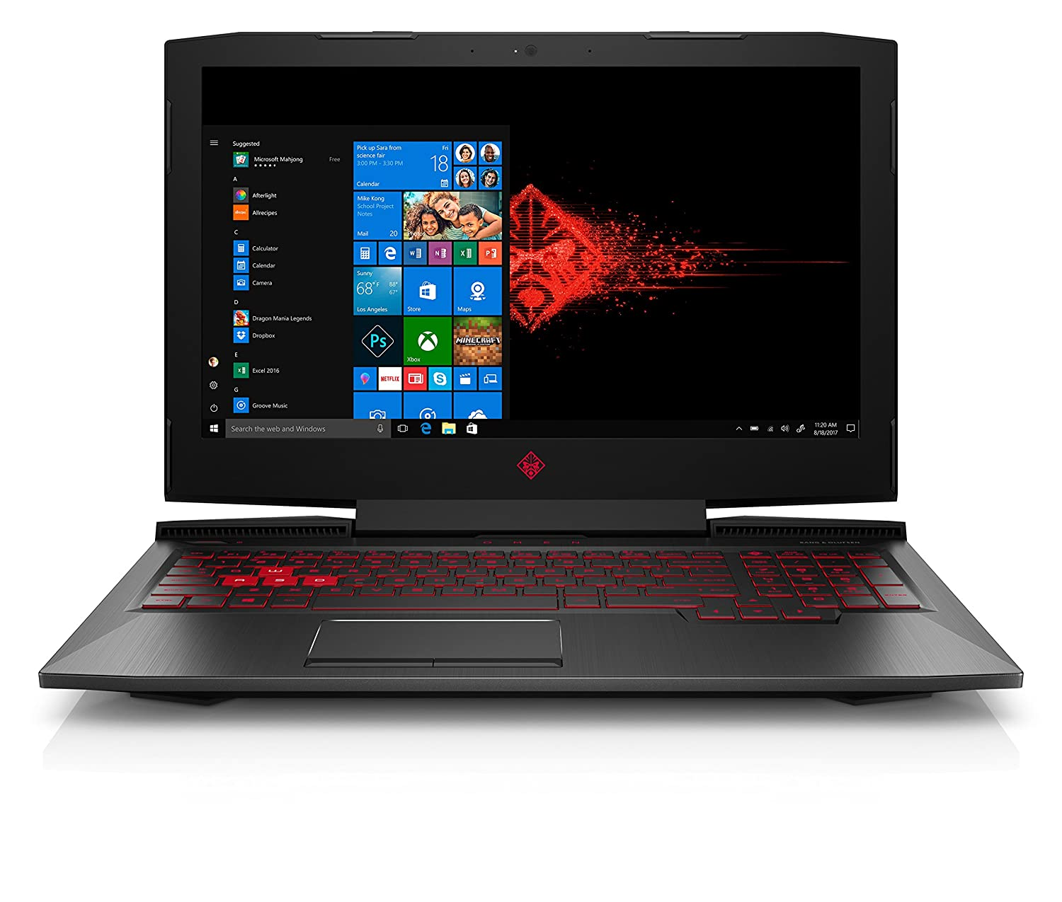 HP OMEN 15-ce024nf PC Portable Gaming Intel Core i5 15' (Full HD, 8 Go de RAM, SSD 256 Go, Nvidia GeForce GTX 1050 4 Go, Windows 10) Noir 2WF41EA#ABF
