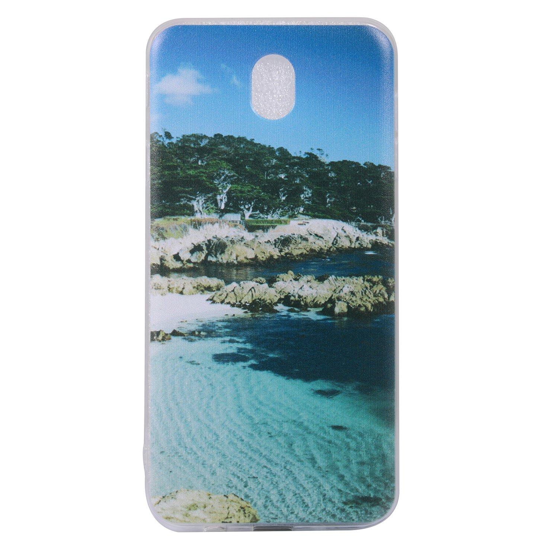 Pour Samsung Galaxy J7 2017/J730 (Euro edition) Case Cover, Ecoway TPU Soft Silicone motifs peints Housse en silicone Housse de protection Housse pour té lé phone portable pour Samsung Galaxy J7 2017/J730 (Euro edition) - Navire Eafior