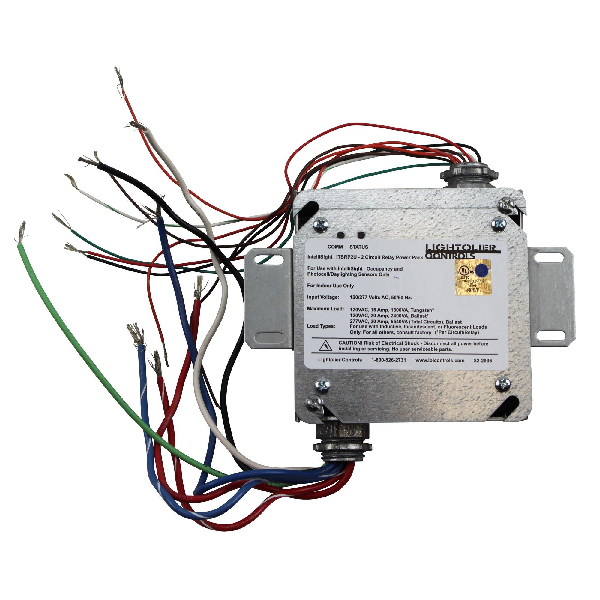 LIGHTOLIER ITSRP2U 120/277 INTELLISIGHT 2 CIRCUIT RELAY POWER PACK