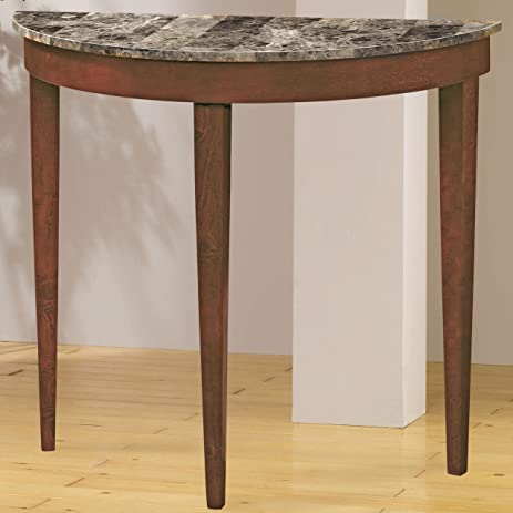 High Quality Faux Marble Top Console Table In Light Cherry
