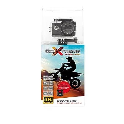 'GoXtreme Enduro Noir caméra d'action 4K, Real 2,7K à 30images par seconde, Full HD au 60fps–avec télécommande, 2/écran de 5cm, WiFi) Noir