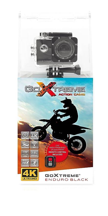 GoXtreme Enduro Black Action Kamera (4K, Real 2, 7K@30fps, FullHD bis 60fps, inkl. Fernbedienung, 2