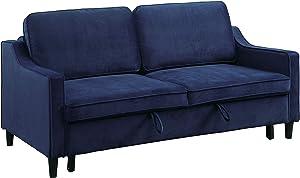 Lexicon Matson Convertible Studio Sofa Bed, Navy