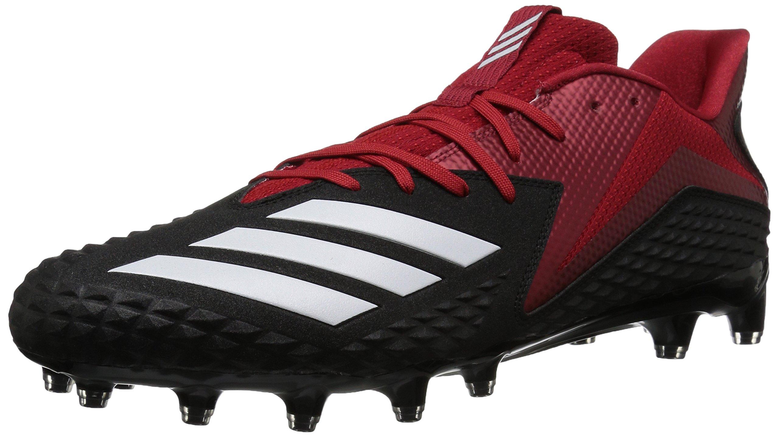 designer fashion 3bd19 475b7 Galleon - Adidas Mens Freak X Carbon Mid Football Shoe, BlackWhitePower  Red, 17 M US