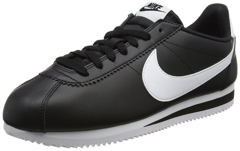Noir (noir blanc) Nike WMNS Classic Cortez Leather, Chaussures de Running Femme 42.5 EU