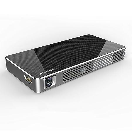 LIANGJING Mini Home HD Wireless WiFi proyector pequeño ...