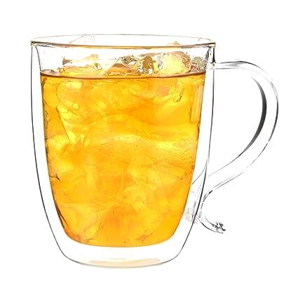 Amazoncom Grosche Cyprus Double Walled Glass Coffee Mug Heatproof