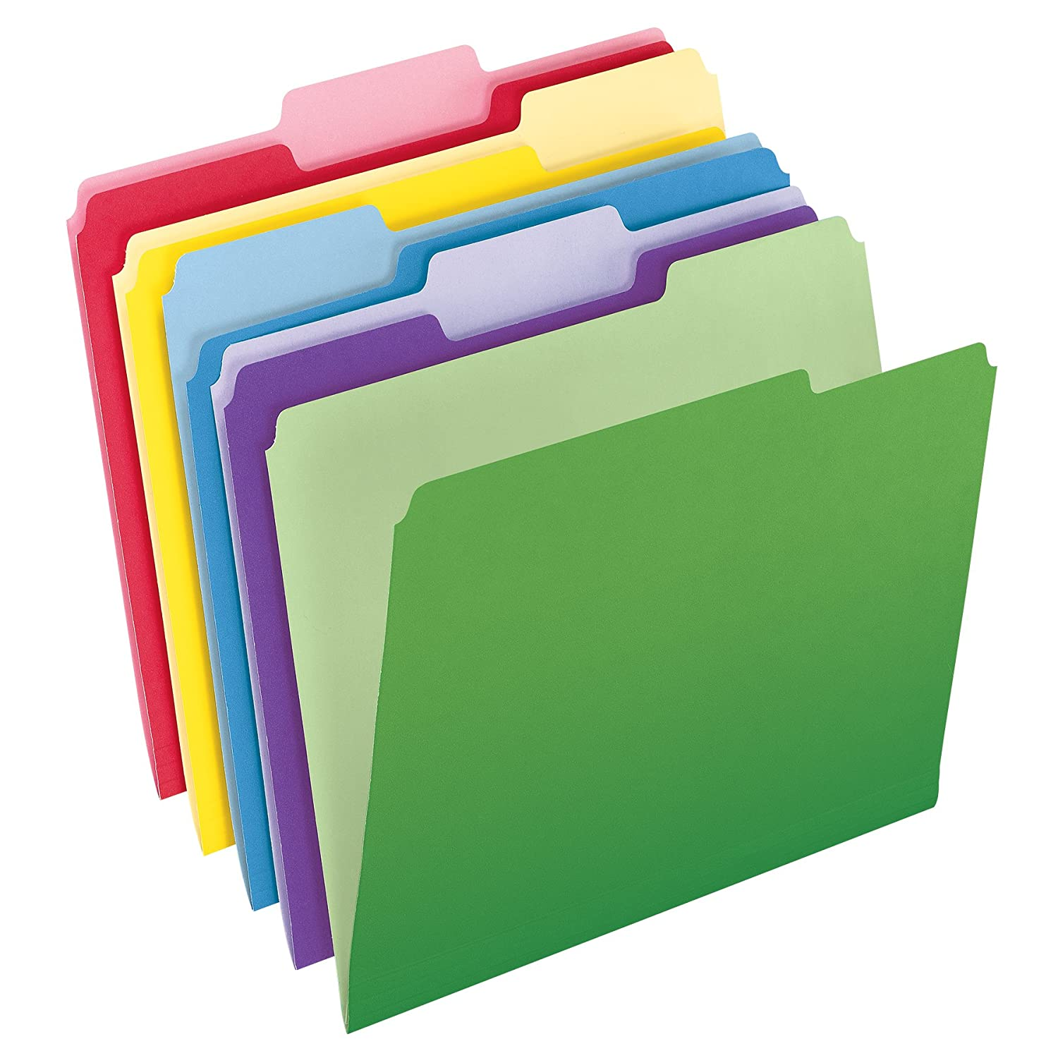 Pendaflex File Folders with InfoPocket, Letter Size, 1/3 Cut, Assorted Colors, 30 Folders per Pack (2086) Esselte Corporation