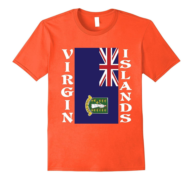 Virgin Islands UK United Kingdom Sideways Flag T-Shirt