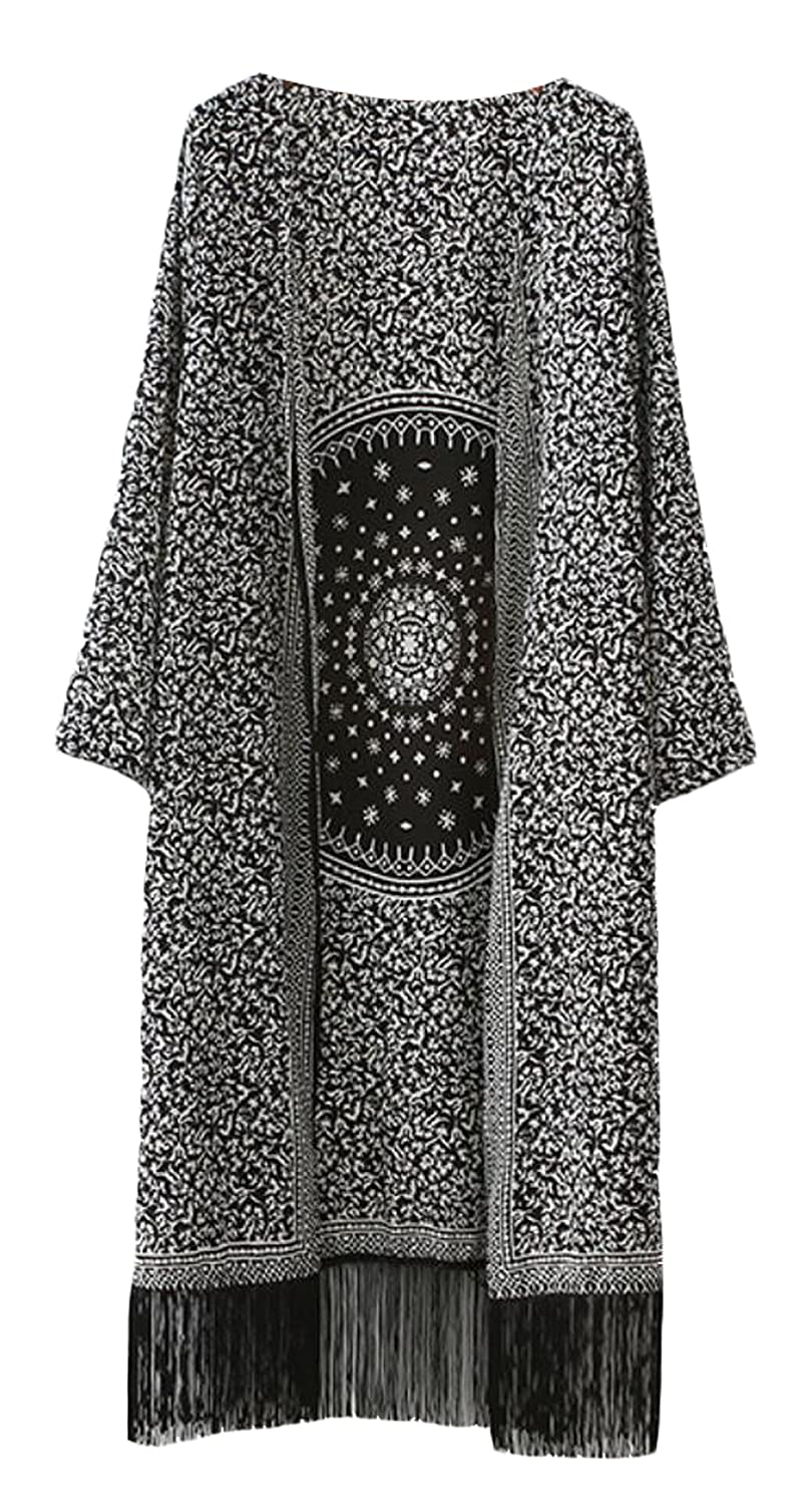 NQ Women's Fashion Printed Long Cardigan