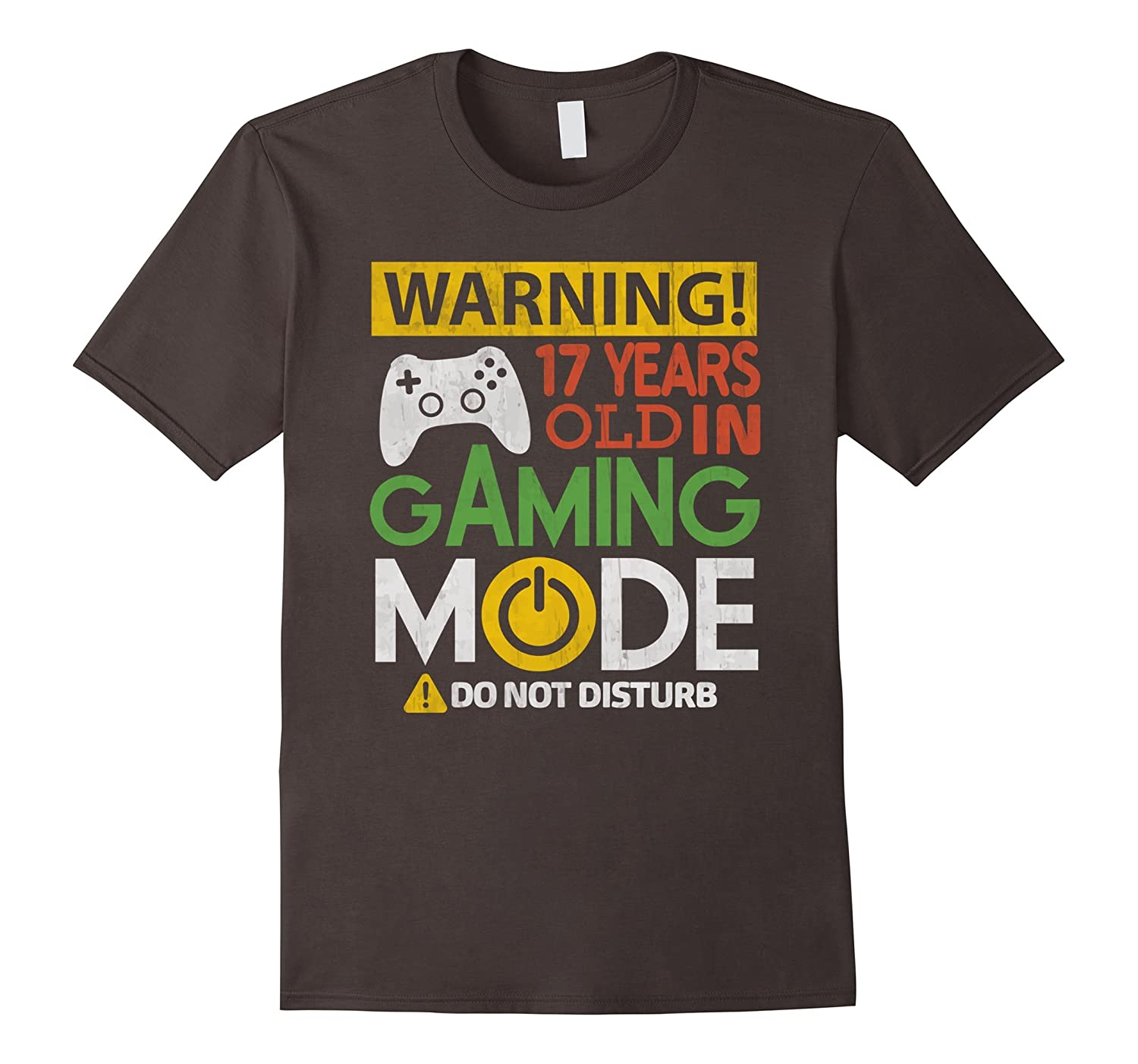 17th Birthday Gift Shirt 17 Years Old in Gaming Mode Gamer