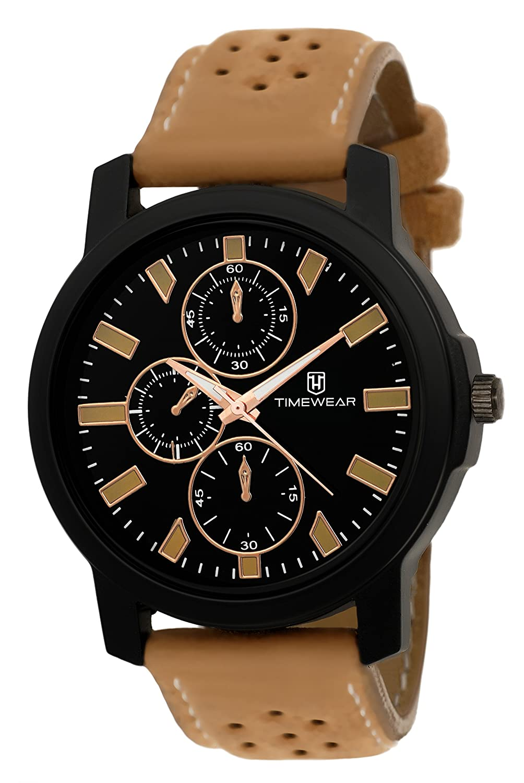 TIMEWEAR Quartz Analogue Black Dial Men's Watch