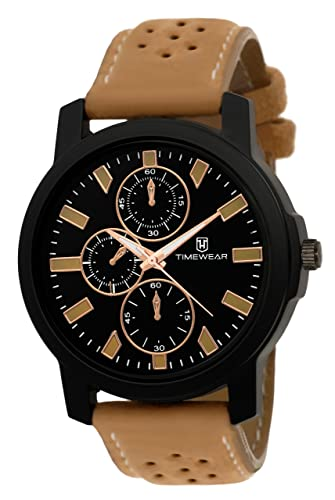 Quartz Analogue Black Dial Men's Watch