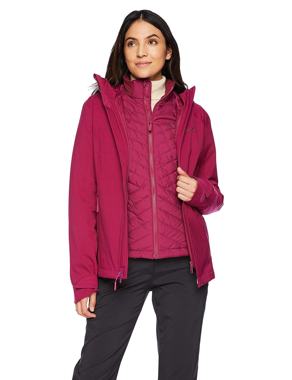 Amethyst Jack Wolfskin Women's Aurora Sky 3in1 Waterproof Hybrid DownFiber Insulated Jacket