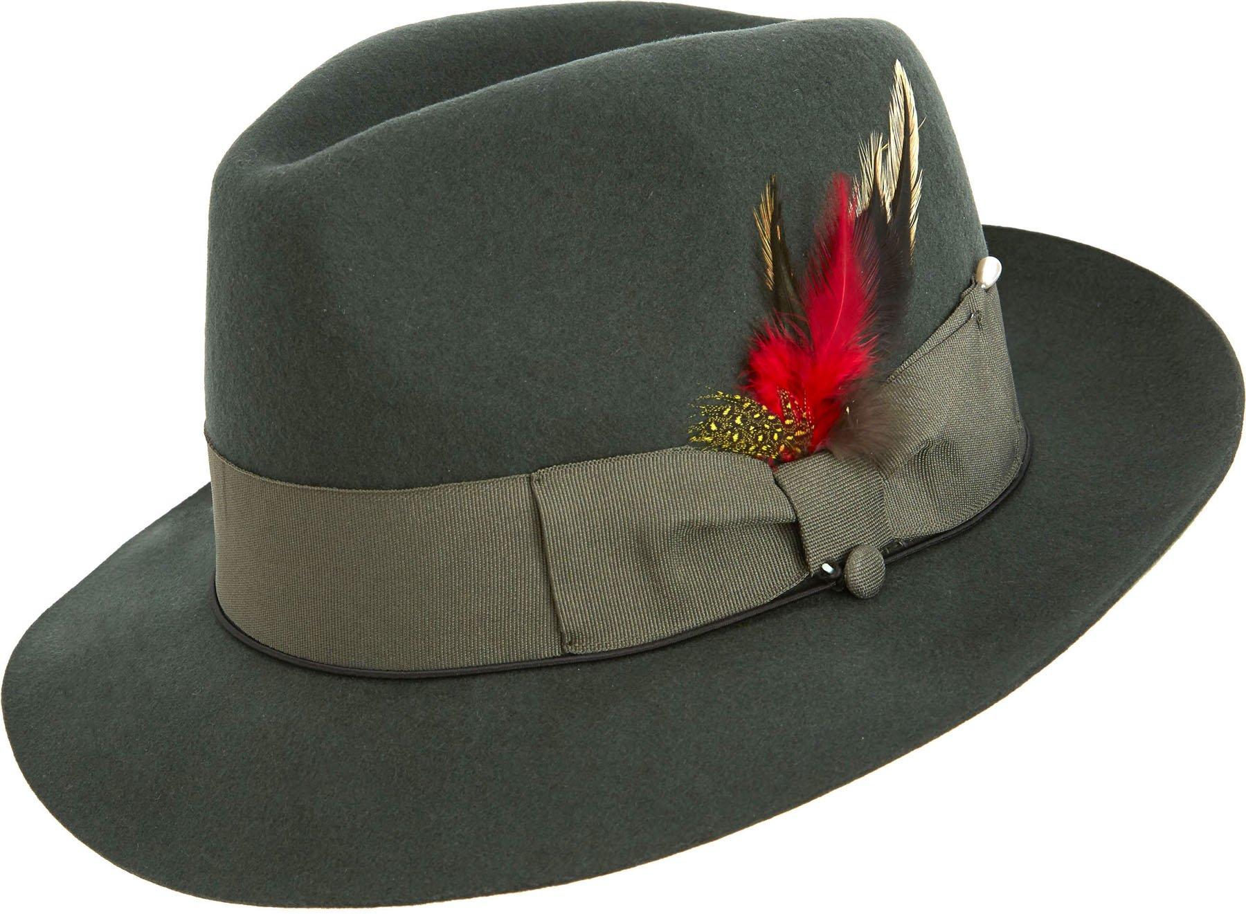 Montique Snap Brim Soft Fine Felt Pinch Fedora Hat