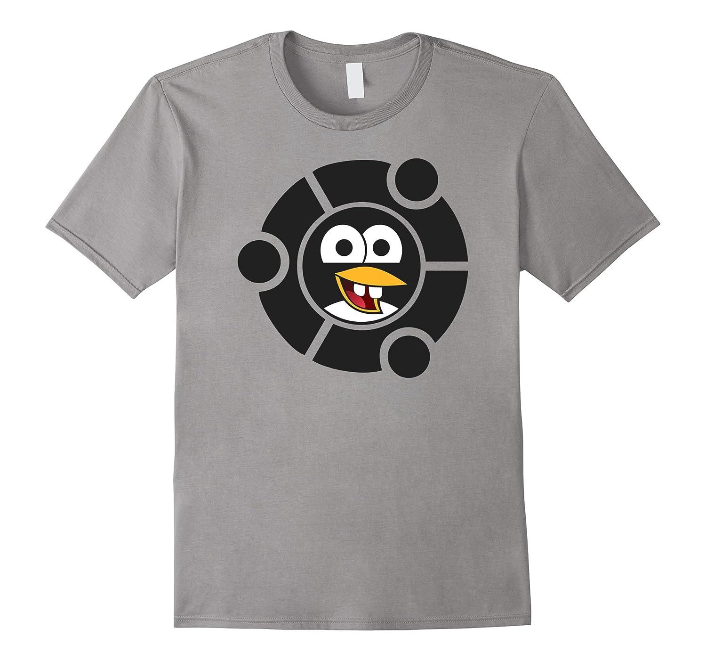 Nerdy Linux Tee Shirt Penguin Emoji Inside Ubuntu Frame-TH