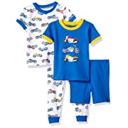 Little Me Baby 4 Piece Cotton Pajamas, Motorcycle, 12 Months