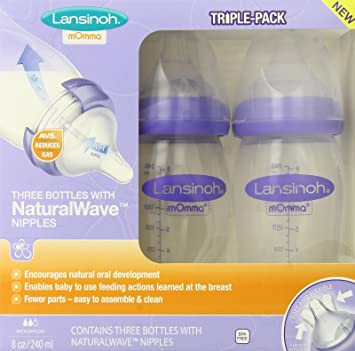 Amazon.com : Lansinoh mOmma Breastmilk Feeding Bottle with ...