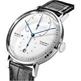 FEICE Mens Automatic Mechanical Watch Bauhaus Watch Analog Domed Mirror Stainless Steel Leather Bracelet Dress Wrist