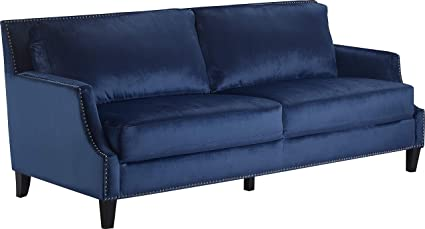 Amazon.com: Truly Home UPH10158A Parker Sofa Navy Blue ...
