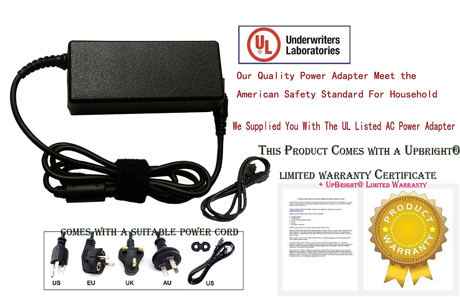 Amazon.com: 2Wire (12V 3A) Universal DC Power Supply Standard AC ...