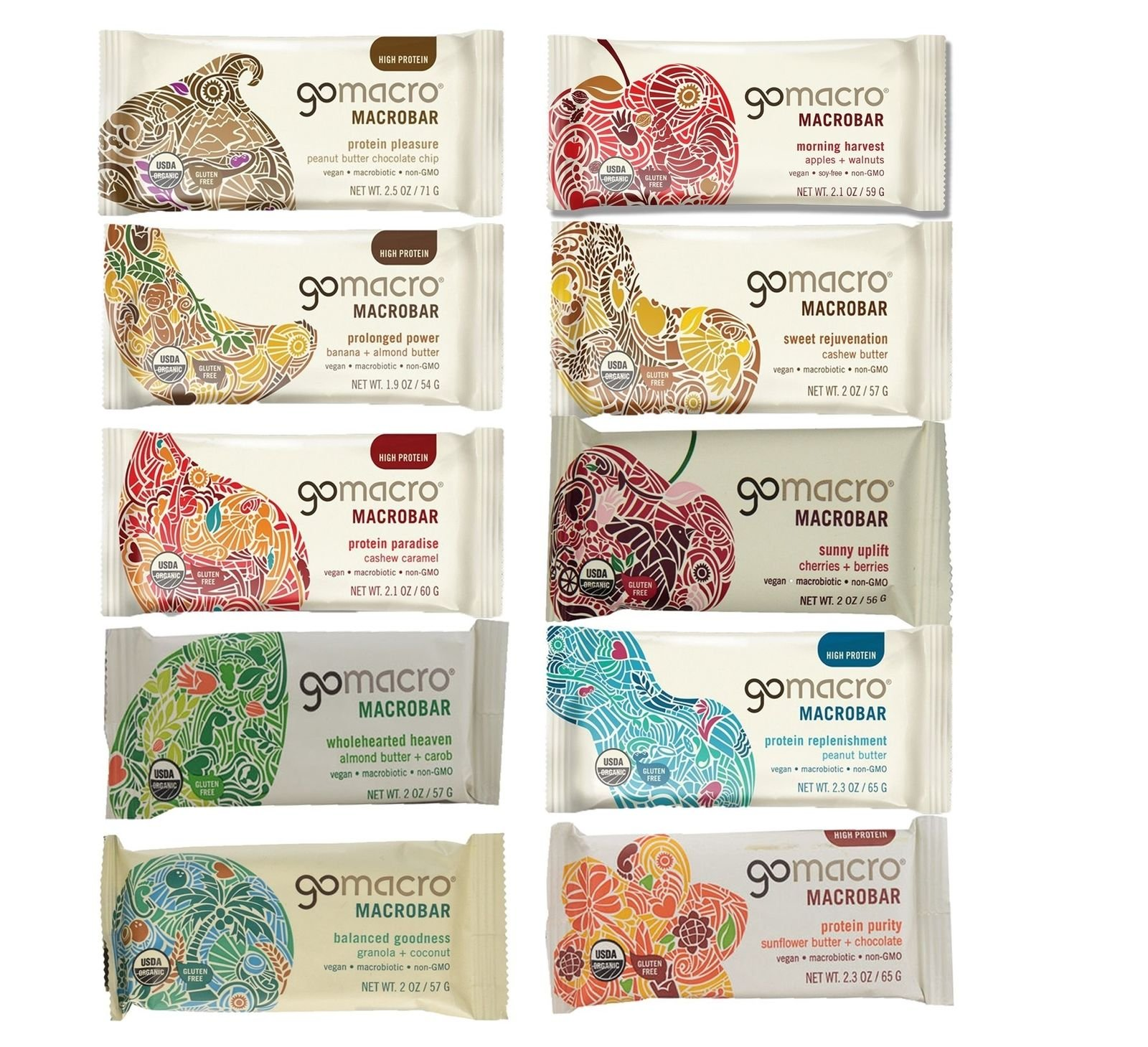 GoMacro Variety Pack, 2 Ounce