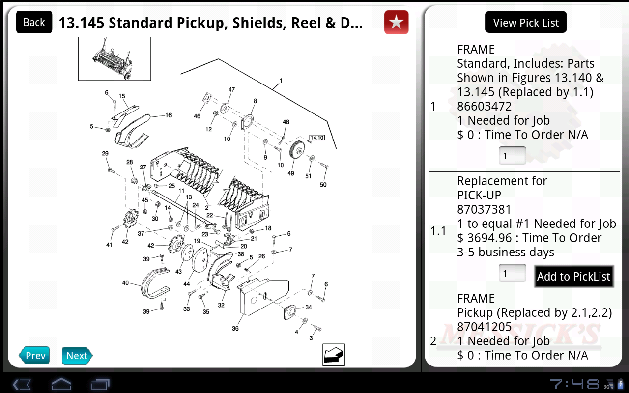 Messicks Tractor And Equipment Parts Tablet Edition Teseh Wiring Diagram Appstore For Android