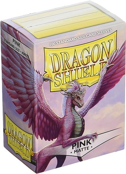 DRAGON SHIELD PINK MATTE STANDARD SIZE SLEEVES 100 PER PACK POKEMON MTG