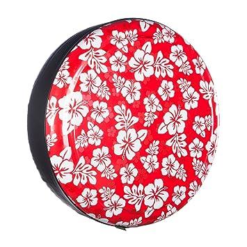 Rostro y vinilo de plástico para neumáticos (banda) - hawaiano impresión - rojo: Amazon.es: Coche y moto