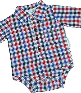 Babyprem Bebé Body Camisa Cuadros Ropa Algodón 62-68cm Niños Azul Rojo 3-6 Meses: Amazon.es: Ropa y accesorios