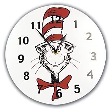 05fbc0c4 Image Unavailable. Image not available for. Color: Trend Lab Dr. Seuss Wall  Clock, Cat In The Hat