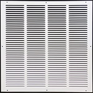 """20""""w X 20""""h Steel Return Air Grilles - Sidewall and Ceiling - HVAC Duct Cover - White [Outer Dimensions: 21.75""""w X 21.75""""h]"""